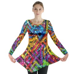Color Play in Bubbles Long Sleeve Tunic