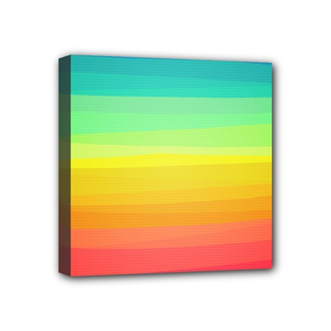 Sweet Colored Stripes Background Mini Canvas 4  x 4