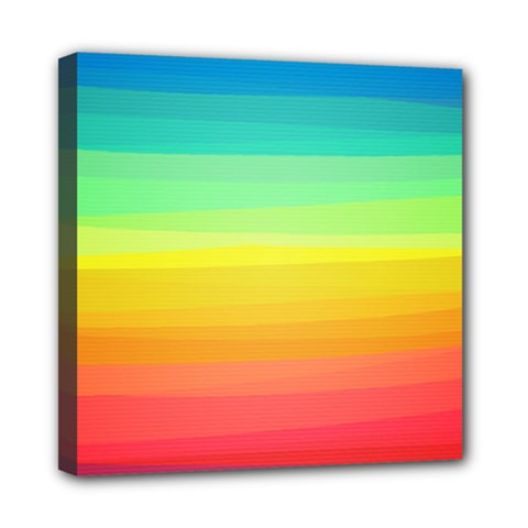 Sweet Colored Stripes Background Mini Canvas 8  x 8