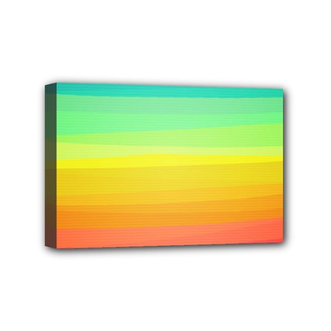 Sweet Colored Stripes Background Mini Canvas 6  x 4