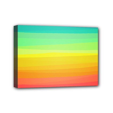 Sweet Colored Stripes Background Mini Canvas 7  x 5