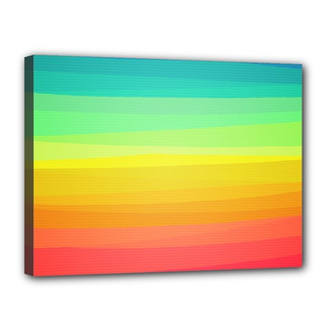 Sweet Colored Stripes Background Canvas 16  x 12