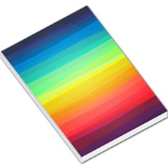 Sweet Colored Stripes Background Large Memo Pads