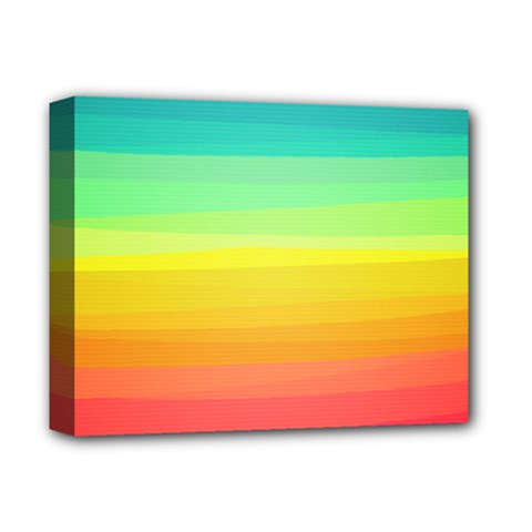 Sweet Colored Stripes Background Deluxe Canvas 14  x 11