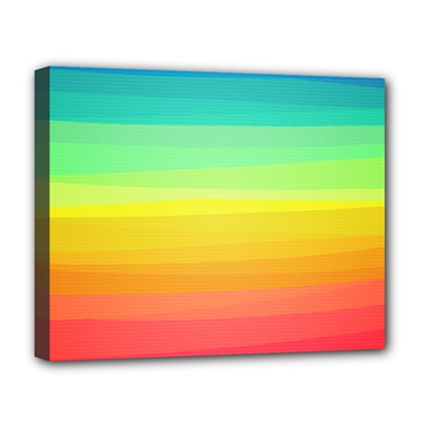 Sweet Colored Stripes Background Deluxe Canvas 20  x 16