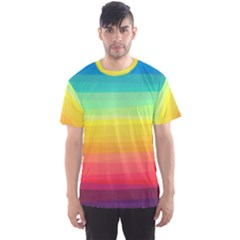 Sweet Colored Stripes Background Men s Sport Mesh Tee