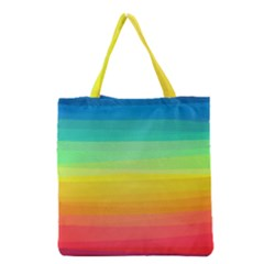 Sweet Colored Stripes Background Grocery Tote Bag