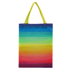 Sweet Colored Stripes Background Classic Tote Bag