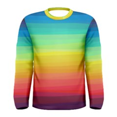 Sweet Colored Stripes Background Men s Long Sleeve Tee
