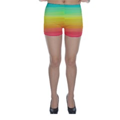 Sweet Colored Stripes Background Skinny Shorts