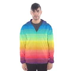 Sweet Colored Stripes Background Hooded Wind Breaker (Men)