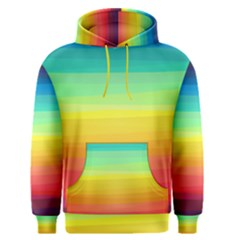 Sweet Colored Stripes Background Men s Pullover Hoodie