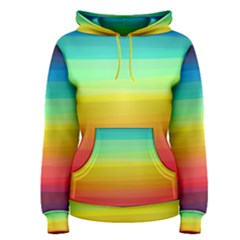 Sweet Colored Stripes Background Women s Pullover Hoodie