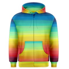 Sweet Colored Stripes Background Men s Zipper Hoodie