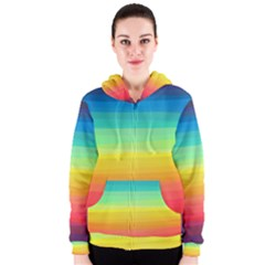 Sweet Colored Stripes Background Women s Zipper Hoodie