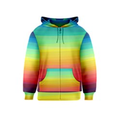 Sweet Colored Stripes Background Kids  Zipper Hoodie
