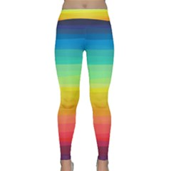 Sweet Colored Stripes Background Yoga Leggings