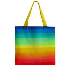 Sweet Colored Stripes Background Zipper Grocery Tote Bag