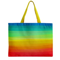 Sweet Colored Stripes Background Zipper Mini Tote Bag