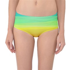 Sweet Colored Stripes Background Mid-Waist Bikini Bottoms