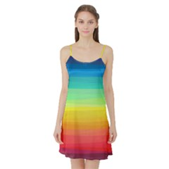 Sweet Colored Stripes Background Satin Night Slip