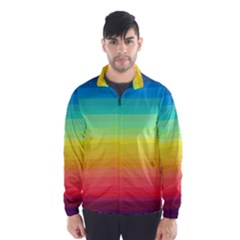 Sweet Colored Stripes Background Wind Breaker (Men)