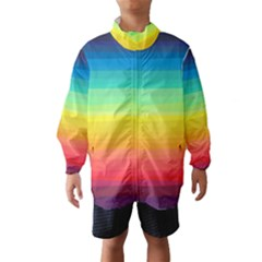 Sweet Colored Stripes Background Wind Breaker (Kids)