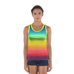 Sweet Colored Stripes Background Tops