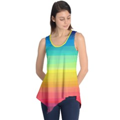 Sweet Colored Stripes Background Sleeveless Tunic