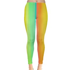 Sweet Colored Stripes Background Leggings