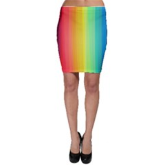 Sweet Colored Stripes Background Bodycon Skirts