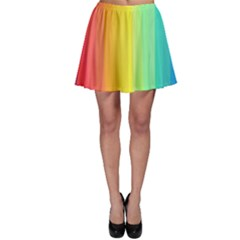 Sweet Colored Stripes Background Skater Skirt