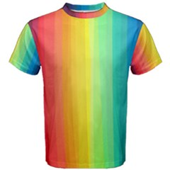 Sweet Colored Stripes Background Men s Cotton Tee