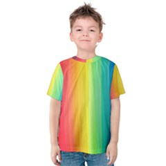 Sweet Colored Stripes Background Kid s Cotton Tee