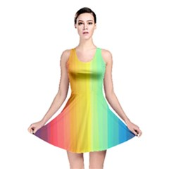 Sweet Colored Stripes Background Reversible Skater Dress