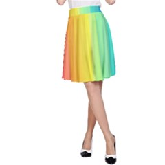 Sweet Colored Stripes Background A-Line Skirt