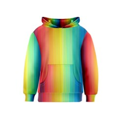 Sweet Colored Stripes Background Kids  Pullover Hoodie