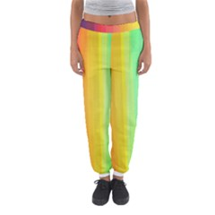 Sweet Colored Stripes Background Women s Jogger Sweatpants