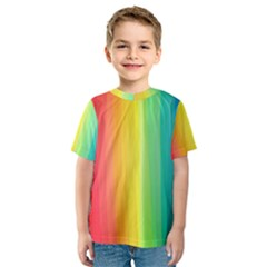 Sweet Colored Stripes Background Kid s Sport Mesh Tee