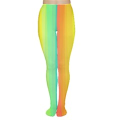 Sweet Colored Stripes Background Women s Tights
