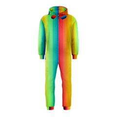 Sweet Colored Stripes Background Hooded Jumpsuit (Kids)