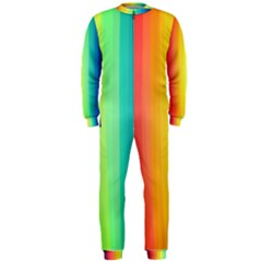 Sweet Colored Stripes Background OnePiece Jumpsuit (Men)
