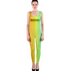 Sweet Colored Stripes Background OnePiece Catsuit