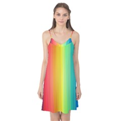 Sweet Colored Stripes Background Camis Nightgown