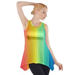 Sweet Colored Stripes Background Side Drop Tank Tunic