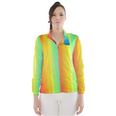 Sweet Colored Stripes Background Wind Breaker (Women)