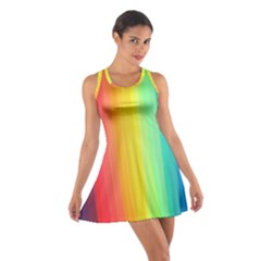 Sweet Colored Stripes Background Racerback Dresses