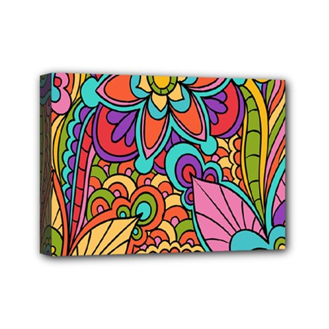 Festive Colorful Ornamental Background Mini Canvas 7  x 5