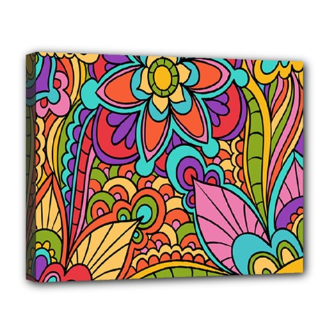 Festive Colorful Ornamental Background Canvas 14  x 11