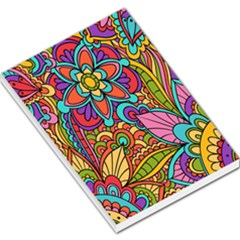Festive Colorful Ornamental Background Large Memo Pads